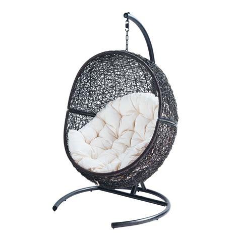 fauteuil de jardin sur pied en r 233 sine marron cocon