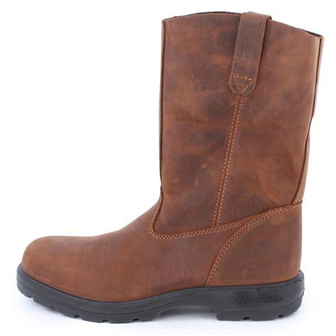 blundstone 548 mens slip on leather biker boots shoes