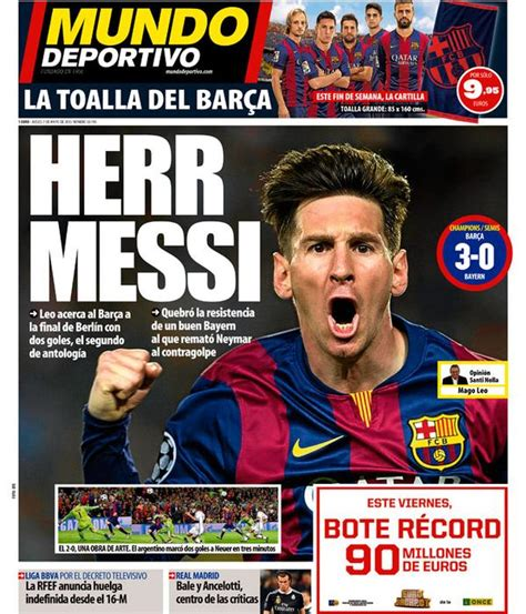 mundodeportivo mundo deportivo el diario deportivo online messi hits world headlines again fc barcelona