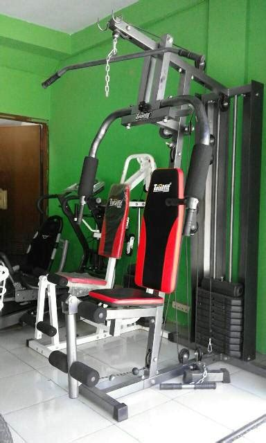 Alat Multi Station Home Hg 001 2 Sisi Pro Total Fitness total home 1 sisi hg 008 alat fitness angkat beban 50 kg homegym building