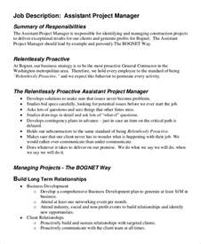 Construction Manager Responsibilities by Sle Project Manager Description 9 Exles In Pdf Word
