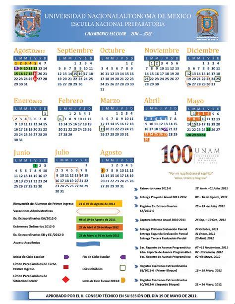 Calendario Escolar Unam Calendarios Escolares 2011 2012 Escolar Mx