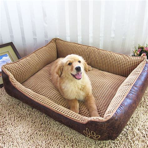 dog house mats luxury pu dog beds waterproof kennel washable fleece warming house kennel plush mat