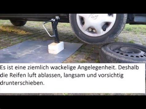 Auto Aufbocken Ohne Hebeb Hne by Am Auto Schrauben Ohne Hebeb 220 Hne Ungem 220 Tlich Aber