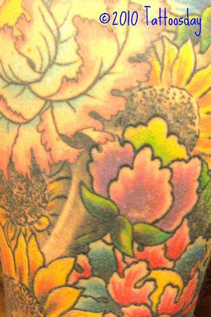 tattoo monger instagram tattoosday a tattoo blog jessica s floral half sleeve