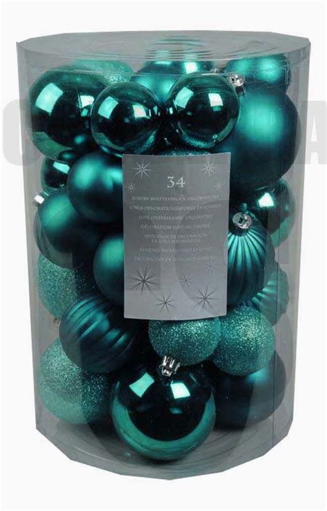 34 luxury shatterproof xmas christmas tree baubles