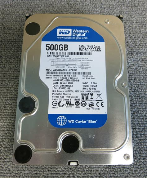 Harddisk 3 5 Wdc Blue 500gb western digital caviar blue wd5000aaks 500gb sata 16mb 3 5 7200rpm drive