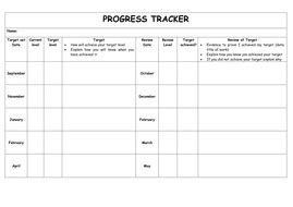 Pupil Tracking Sheet By Jxn Teaching Resources Tes Tracking Student Progress Template
