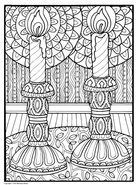 coloring sheet beautiful candles shalom coloring book the new