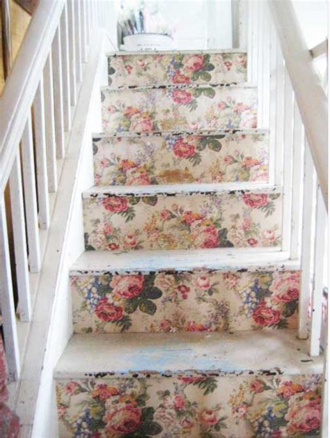 cottage style wallpaper staircase vintage wallpaper home decor