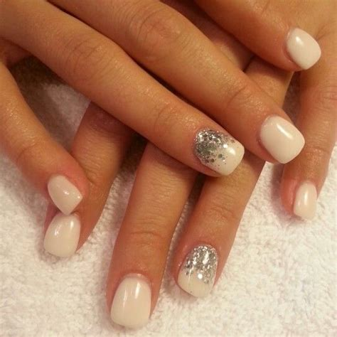 Silber Nägel by White Gel Chunky Silver Glitter Nails Prom