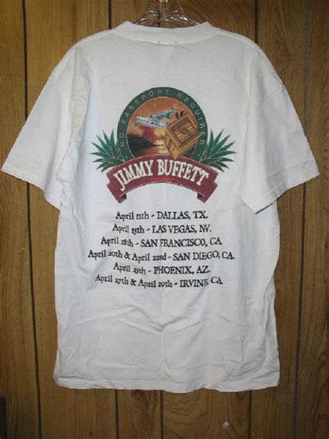 jimmy buffett concert tour t shirt vintage no passport
