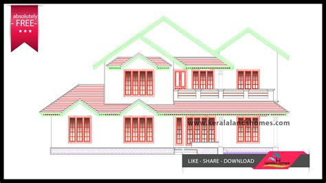 low budget free kerala house plans and