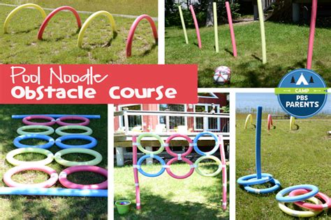 Backyard Football 08 Pool Noodle Obstacle Course Crafts For Kids Pbs Parents