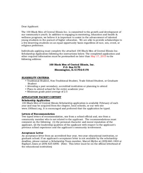 Scholarship Letter Words Sle Scholarship Acceptance Letter 6 Documents In Pdf Word
