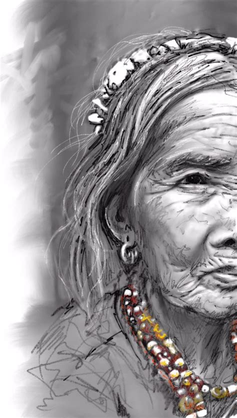 whang od the kalinga tattoo maker quot whang od quot my quick sketch of the oldest and the last
