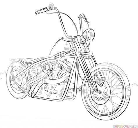 Harley Davidson Drawing Outline At Getdrawings Com Free