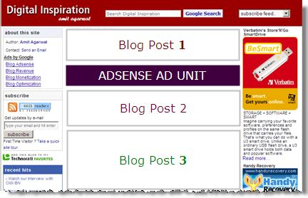 adsense on blogger how to display just one google adsense ad on blogger mainpage
