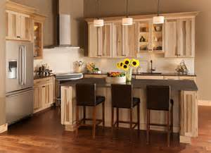 american woodmark kitchen cabinets the lodge look rustic charm of shorebrook hickory