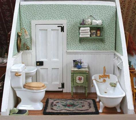 miniature dollhouse bathrooms miniature bathroom room box soon to be dollhouse