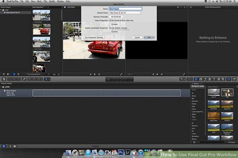 final cut pro how to use how to use final cut pro workflow 11 steps with pictures