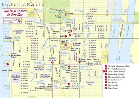 sightseeing map of new york map of new york top tourist attractions