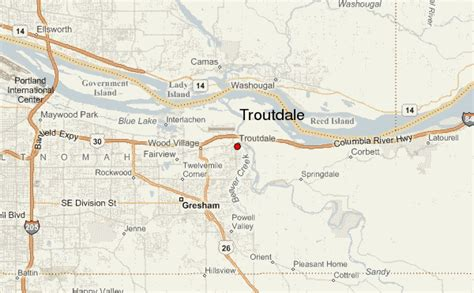 where is troutdale oregon on a map troutdale location guide