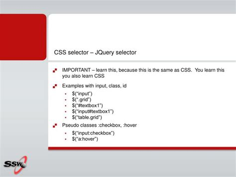 css tutorial for beginners with exles ppt ppt jquery powerpoint presentation id 2023311