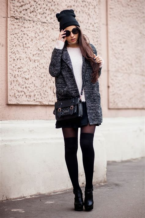 outfits with knee high socks skirt 20 ways to wear knee high socks stylecaster