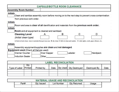 records release form exle excel batch records