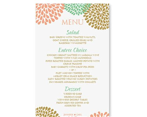 menu templates free for word menu template word