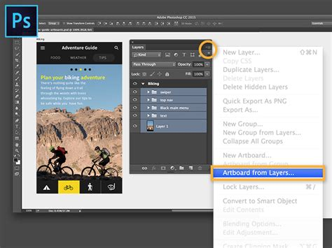 photoshop guide layout artboard app prototyping with photoshop artboards and preview cc