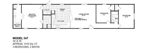 3 bedroom trailer floor plans awesome 16 wide mobile home floor plans new home plans
