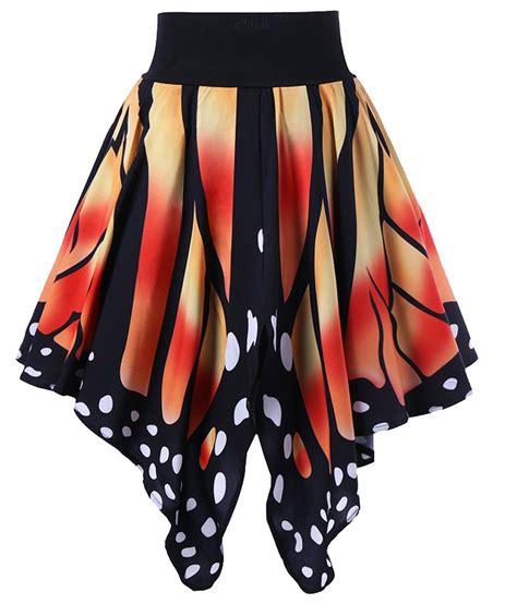 Butterfly Skirt Orange butterfly shape wings multicolor skirt orange