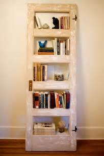 Repurposed Bookshelves Vintage Door Repurposed Bookshelf Crackled By Thedoorshelffactory