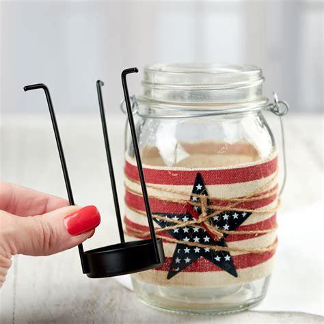 Americana Mason Jar Tealight Candle Holder   Americana