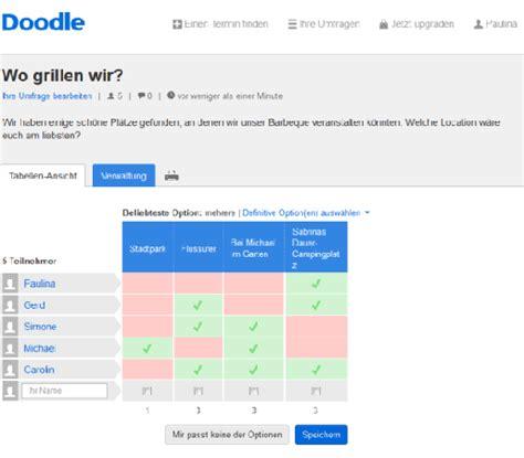 doodle umfrage erstellen die abstimmung mit doodle kein problem doodle