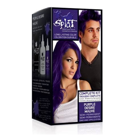 how to get splat hair dye out of hair splat purple desire semi permanent hair dye for all hair