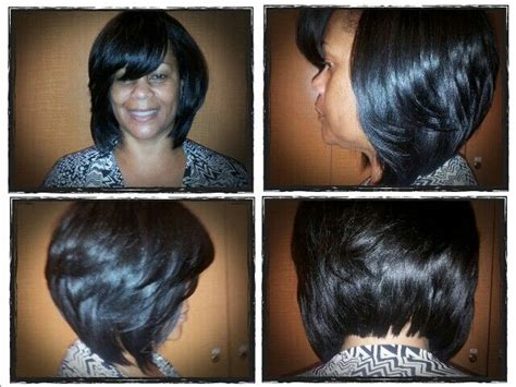 sew in layered bob hairstyles layered bob sew in weave pinterest