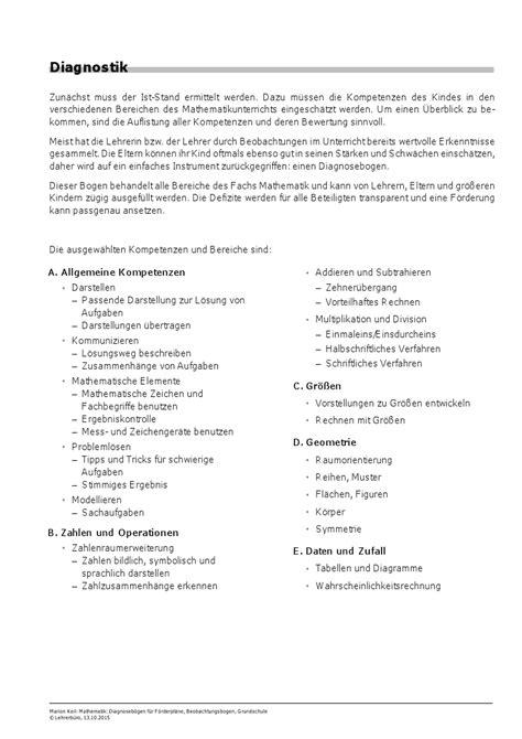 Reflexion Schreiben Muster Pflege Lerndefizite 183 Arbeitshilfen 183 Grundschule 183 Lehrerb 252 Ro