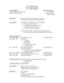 Free Fill In Resume by Blank Resume Template For Students Simple Resume Template