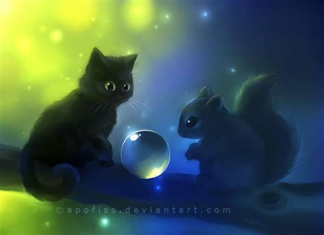 cat wallpaper deviantart tableaux art digital apofiss page 5