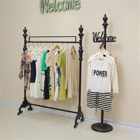 Racks For Hanging Clothes by Iron Clothing Rack Clothing Store Display Racks For