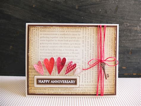 Anniversary Cards Handmade Ideas - happy anniversary card mayholic in crafts
