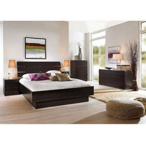 bedroom dresser set 4 pcs bedroom furniture set headboard bed platform chest nightstand ebay