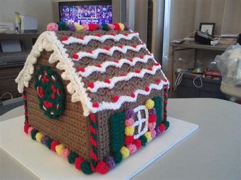 free crochet pattern gingerbread house learn how to make gingerbread house decoration ck