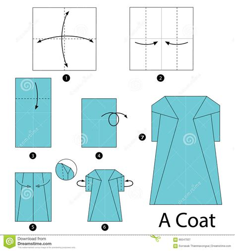 How To Make Paper Toys Step By Step - step by step how to make origami a coat