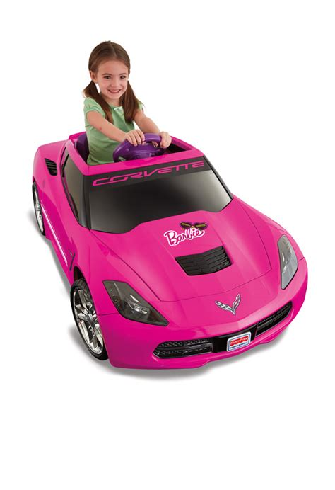 barbie corvette amazon com fisher price power wheels corvette toys games