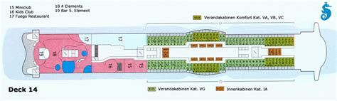 Aidaprima Deck 12 by Aktueller Deckplan Der Aidaprima
