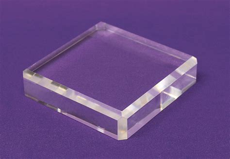 Clear Acrylic L Base by Displays By Rioux Display Blocks Wood Bases